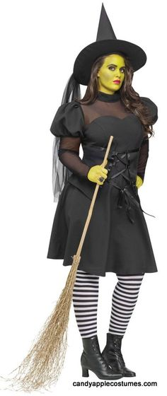 Plus Size Ms. Wick'd Witch Costume - Adult Witch Costumes - Candy Apple Costumes