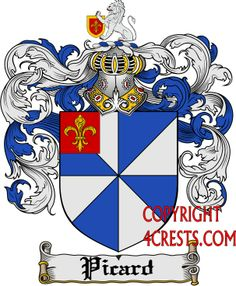 Picard Family Crest / Picard Coat of Arms