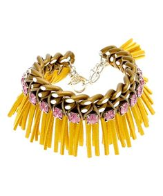 Another great find on #zulily! Yellow Squaw Bracelet Made With SWAROVSKI ELEMENTS #zulilyfinds