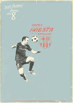 Sucker for Soccer Iniesta