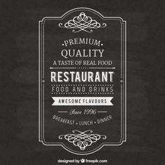 vintage-restaurant-label_23-2147509018.jpg (626×626)