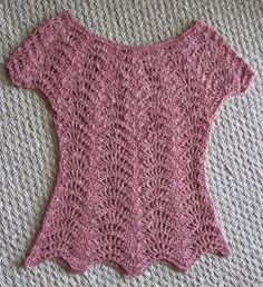 10 FREE Valentine's Crochet Patterns: Clothing and Accessories: Feather and Fan Top Free Crochet Pattern