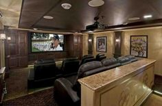 Home Theater traditional media room At Home Movie Theater, Home Theater Rooms, Home Theater Design, Home Design Decor, House Design, Interior Design, Home Decor, Dream Theater, Set Design