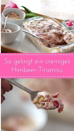 So gelingt ein cremiges Himbeer-Tiramisu ganz einfach. Tiramisu Rezept cremig lecker Dessertidee Nachtisch