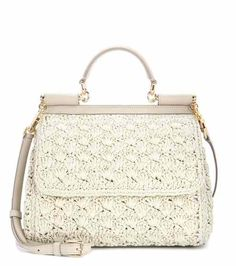 Sicily Small raffia shoulder bag | Dolce & Gabbana