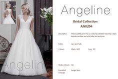 Bride dress Bridal by anenia Lace Bodice, Beautiful Gowns, Bridal Collection, Bridal Dresses, Tulle, Neckline, Colours, Bride, Fashion