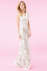 #21 DOVE GREY PAILLETTE EMBROIDERED LACE V-NECK GOWN