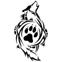 I seriously adore the designs, outlines, and linework. This really is a superb choice if you really want a Wolf Paw Tattoos, Tribal Wolf Tattoo, Wolf Tattoo Design, Wolf Design, Tribal Tattoos, Tatoo Art, Body Art Tattoos, Lobo Tribal, Wolf Paw Print
