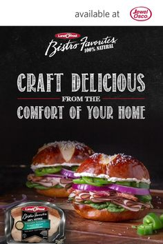 Craft delicious from the comfort of your home with Land O' Frost Bistro Favorites! Bistro Favorites is 100% natural, hand-seasoned meat, made in small batches for that artisan-quality flavor. Click here to learn more!