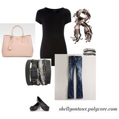 black and pinkyyy, created by shellyontour on Polyvore