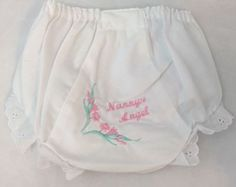 Monogrammed Embroidered Bloomers Diaper Cover Panties Nanny's Angel Size 5 - http://baby.goshoppins.com/diapering/monogrammed-embroidered-bloomers-diaper-cover-panties-nannys-angel-size-5/