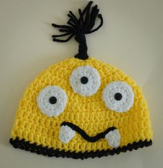 Crocheted Monster Hat  Child to Adult