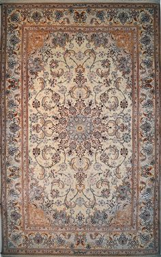 Isfahan Silk Persian Rug | Exclusive collection of rugs and tableau rugs - Treasure Gallery Isfahan Silk Persian Rug You pay: $5,700.00 Retail Price: $18,000.00 You Save: 68% ($12,300.00) Item#: 1311 Category: Medium(6x9-8x11) Persian Rugs Design: Medallion Size: 324 x 200 (cm)      10' 7 x 6' 6 (ft) Origin: Persian, Isfahan Foundation: Silk Material: Wool & Silk Weave: 100% Hand Woven Age: Brand New KPSI: 525