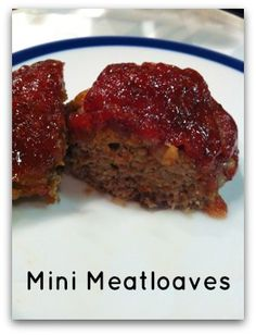 My favorite recipe for meatloaf! Making mini loaves increases the caramelized bits on the outside. Super delicious!