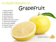 10 Health Benefits of Grapefruit. by mandy 10 Health Benefits of Grapefruit. by mandy Health Benefits Of Grapefruit, Lemon Benefits, Matcha Benefits, Health And Nutrition, Health And Wellness, Health Tips, Health Facts, Natural Cures, Minerals