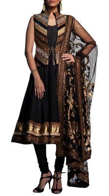 Multi Laced Border Jacket   Strandofsilk.com - Indian Designers