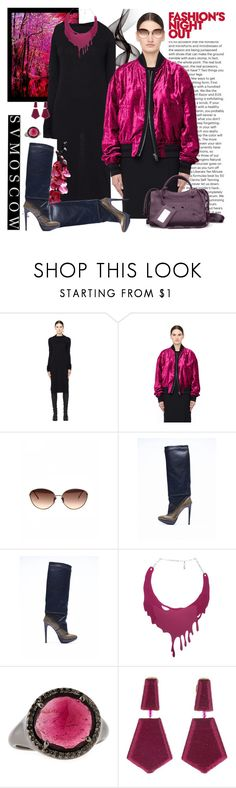 """SVMOSCOW 60. (NEW !!)"" by carola-corana ❤ liked on Polyvore featuring Rick Owens Lilies, A.F. Vandevorst, Carrie K., Bavna, Oscar de la Renta, Balenciaga and Fashion's Night Out"
