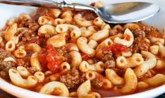 American Goulash- made this and LOVED it. definitely making again! the only things I changed to the recipe was 1 lb instead of 2 of beef, an extra 1/4 cup macaroni- made it thicker, and I didn't add the basil- not my taste....LOVED it