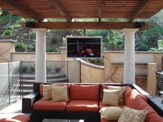 No patio is complete without a TV to watch football on in the fall.