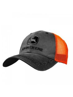 f24a7edb1b6 Oilskin Mesh Back Embroidered Hat- Charcoal - CS184D7YE5W