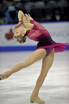 Jewel tones work well on the ice.  This dress also has the perfect amount of sparkle.
