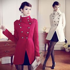 e869b7648 Click to Buy    Women Wool Long Outwear Coats Nice New Fashion Vintage