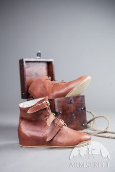 Bottines en cuir médiévales, chaussures de chevalier d'ArmStreet
