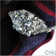 Eye-catching three stone ring with AAA high quality Radiant Cushion cut in prong setting Sides have 0 75 trillions on each side Heavy shank Shape RadiantCushion/Trillions Carat Weight center 1 sides TCW 4 5 Three Stone Rings, Cushion Cut, Diamond Earrings, Cushions, Engagement Rings, Gold, Jewelry, Diamond Stud Earrings, Throw Pillows