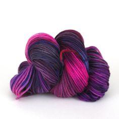 Hand-Painted Worsted Superwash Merino Yarn - Vibrant Sunset