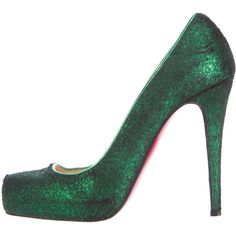 Pre-owned Christian Louboutin Ponyhair Decollete Pumps ($325) ❤ liked on Polyvore featuring shoes, pumps, green, christian louboutin, christian louboutin shoes, christian louboutin pumps, hidden platform shoes and pony hair pumps