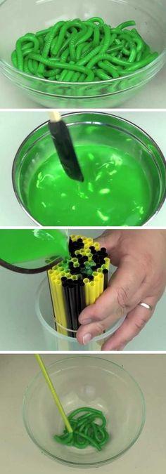 Gummy Worms   20+ DIY Halloween Crafts for Kids to Make