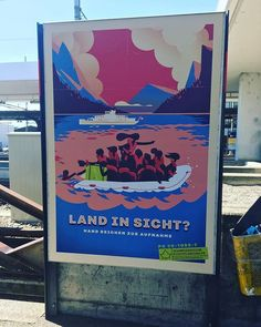 Today in my Deutsch class an Iraqi student (who is always participating and so eager to learn German) told all of us how his brother and sister-in-law died when a refugee boat carrying his family capsized. He is raising their children who survived. After class standing at a banhoff I saw this sign. This was todays lesson in deep empathya skill that deserves more attention. A lesson to share. There are no coincidences. . . . For the record. In 2003 when the US launched operation shock and awe…