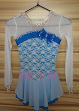pure silk ice skating dresses competition girls figure skating clothing custom