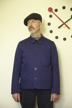 Medway Jacket, Old Town, Navy Cotton Drill £190