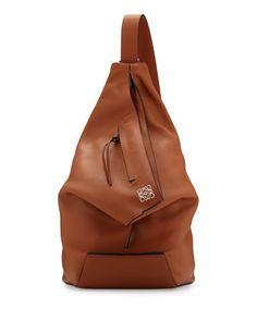 Anton One Shoulder Backpack, Tan by Loewe at Bergdorf Goodman.