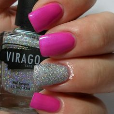 China Glaze Purple Panic with an accent of Virago Varnish Allure