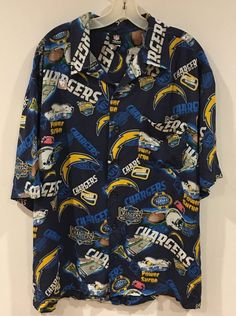NFL Button Down Shirt San Diego Chargers Bolts Team Apparel Size Large Men's  | eBay