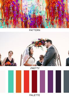 teal orange purple- not just for wedding but everything! House, painting, fashion, etc