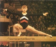 Elena Mukhina, USSR. A great gymnast, now paralyzed for life after a fatal crash during training on the floor exercise. God Bless <3