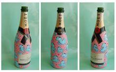 Fles MOET Loes van Delft Delft, Champagne, Drinks, Bottle, Art, Drinking, Art Background, Beverages, Flask