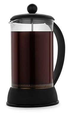 FP Coffee Maker French Press Coffee Maker w Glass Carafe and Sturdy Plastic Frame 34 oz 8 cup capacity black *** You can find out more details at the link of the image.Note:It is affiliate link to Amazon.