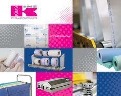 Gráfica para Stand Kims exhibiendo distintos productos de la marca para Francia. #kims #lab #France #sterilization #products #science #stand #banner