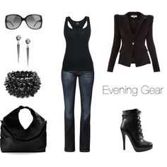 """Evening Gear"" by jess31rabbit on Polyvore Great weekend outfit!"