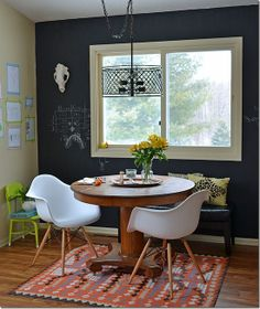 Decorate: Industrial/Schoolhouse dining room.