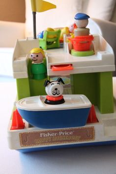 Fisher Price vintage Play Family Houseboat.  This one can even go on the water.