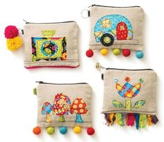 Colorful projects, perfect to give as gifts Put the fun back in sewing with little treasures to sew, embellish, and share! Popular fabric and pattern designer Jennifer Heynen invites you to choose youWhat About Amazing Easy Sewing Projects ? Easy Sewing Projects, Sewing Hacks, Sewing Crafts, Machine Embroidery, Embroidery Applique, Quilting, Fabric Bags, Handmade Bags, Pin Cushions