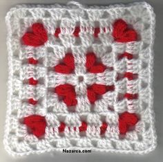Find the best granny square blankets, including large and small motifs. Granny square pattern afghans can be made as one large, continuing granny square or by combining many smaller crochet granny squares. Crochet Motifs, Crochet Blocks, Granny Square Crochet Pattern, Crochet Squares, Crochet Stitches, Crochet Patterns, Granny Squares, Afghan Patterns, Heart Granny Square