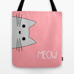 Meow Tote Bag by August Decorous - $22.00