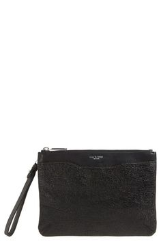 RAG & BONE Top Zip Leather Clutch. #ragbone #bags #shoulder bags #clutch #leather #hand bags