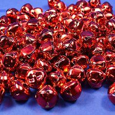 "3/4"" Red Metal Jingle Bells - Pack of 100"